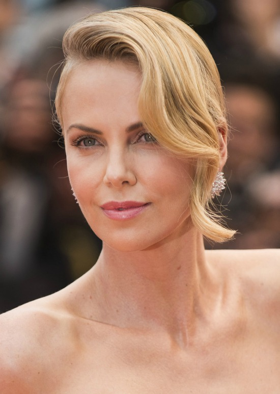 Charlize Theron loose bangs Hairstyle