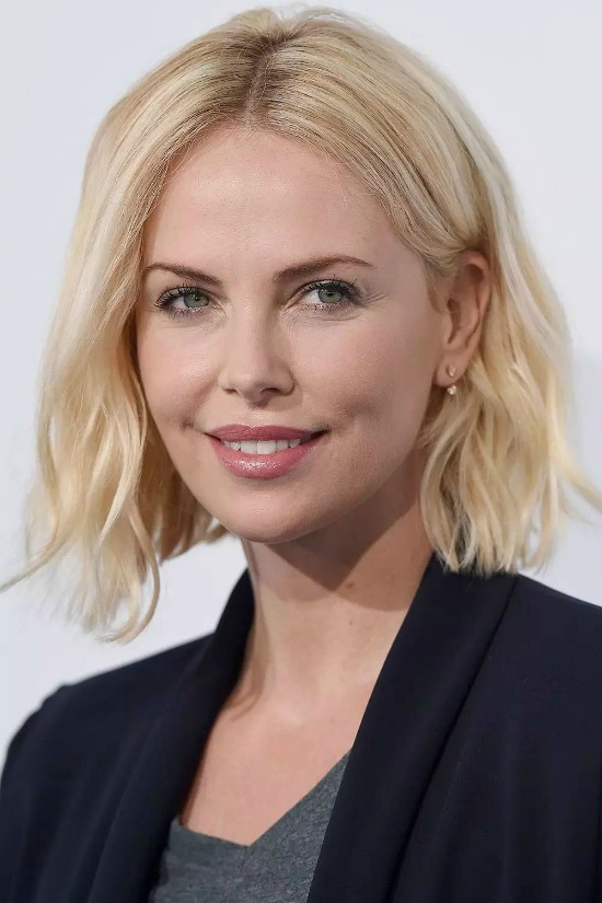 Charlize Theron's medium length bob hairstyle