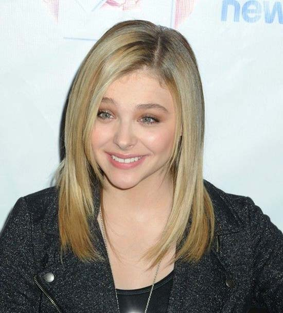 Chloe Moretz Medium Straight Hairstyles