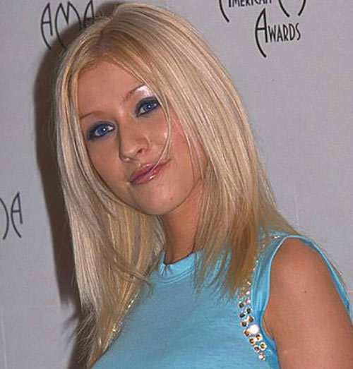 Christina Aguilera Long Bob Hairstyles