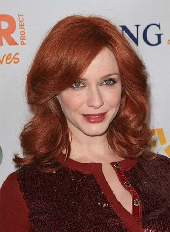 Christina Hendricks Medium Red Hairstyles
