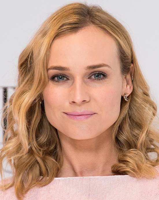 Diane Kruger Medium Curly Hairstyles