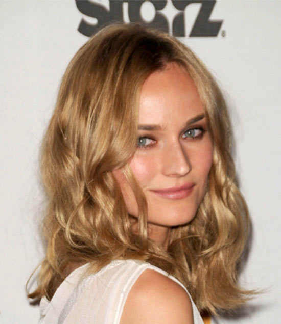 Diane Kruger Medium Layered Haircuts