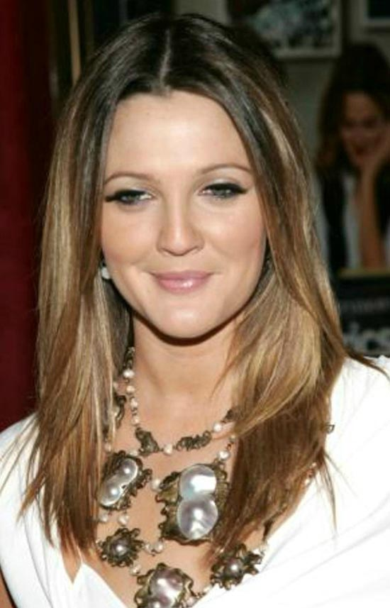 Drew Barrymore Long Bob Hairstyles