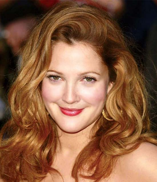 Drew Barrymore Medium Length Haircuts for Thick Hair