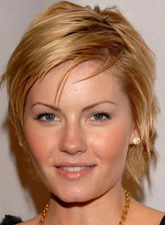 Elisha Cuthbert Sassy Bob Haircuts for Round Faces