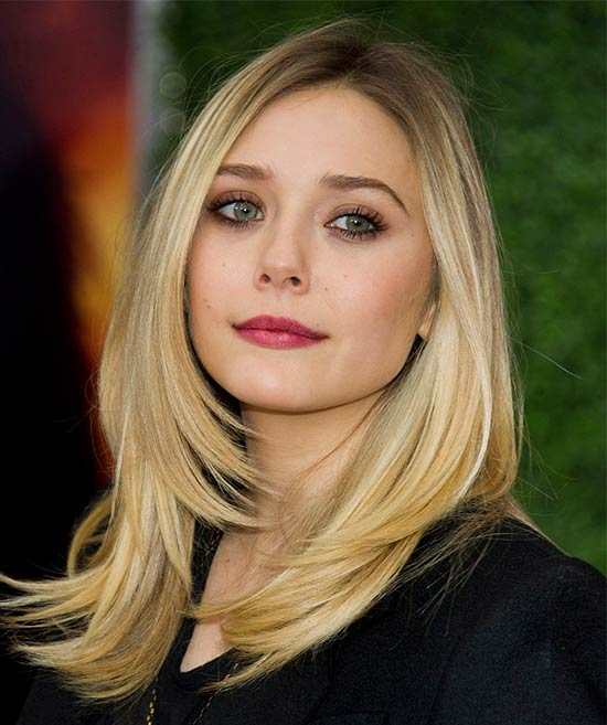 Elizabeth Olsen Medium Straight Hairstyles