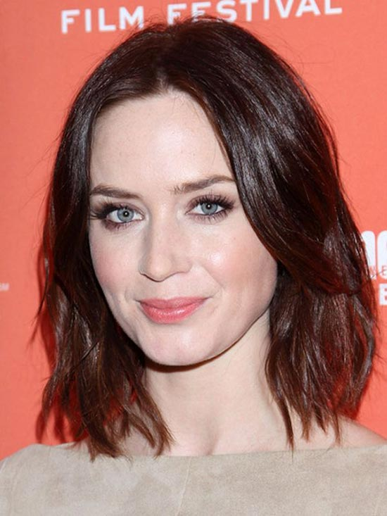 Emily Blunt Choppy Bob Hairstyles