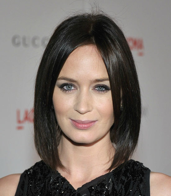 Emily Blunt Inverted Bob Haircuts