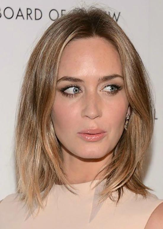 Emily Blunt Long Bob Hairstyles