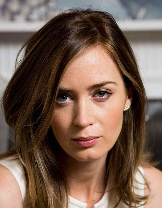 Emily Blunt Medium Layered Haircuts