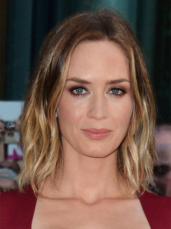 Emily Blunt Medium Shag Haircuts
