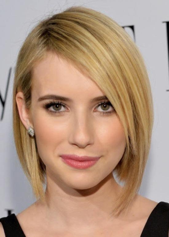 Emma Roberts Angled Bob Hairstyle