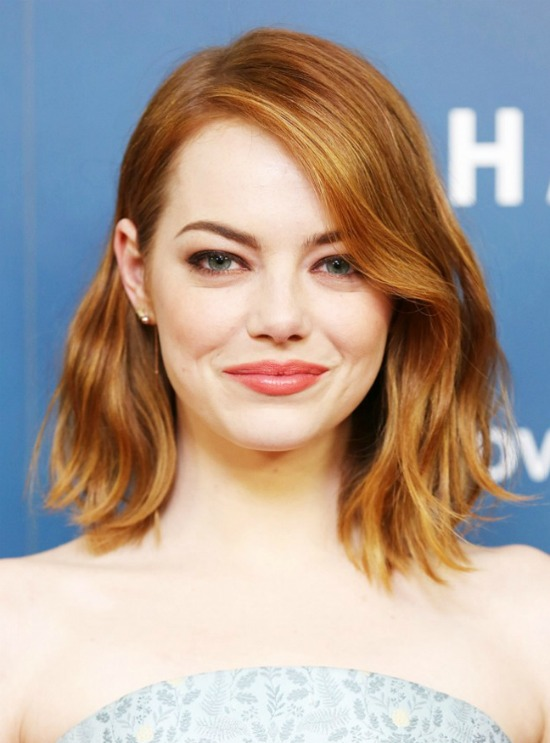 Emma Stone Bangs Hairstyle