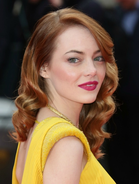 Emma Stone Long Layered With Bangs