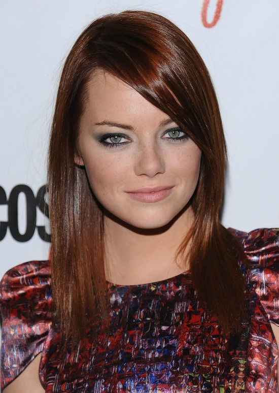 Emma Stone Long Sleek Hair