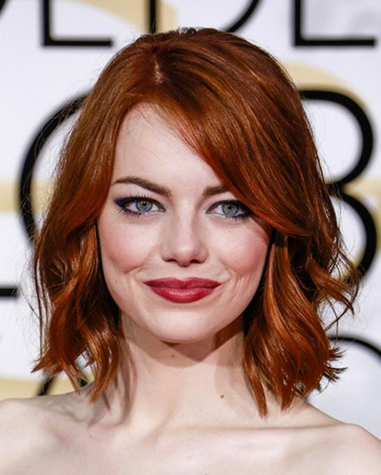 Emma Stone Medium Red Hairstyles