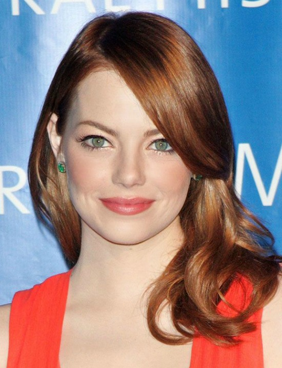 Emma Stone Soft Red Waves