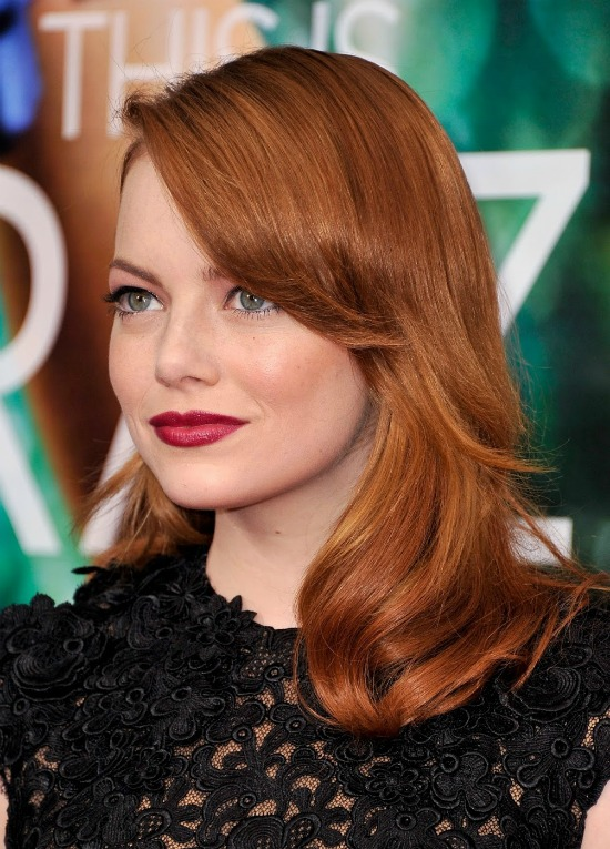 Emma Stone's Side-Swept Waves