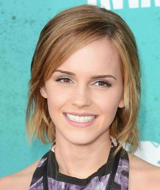 Emma Watson Choppy Bob Hairstyles