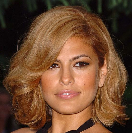 Eva-Mendes Medium Bob Hairstyles