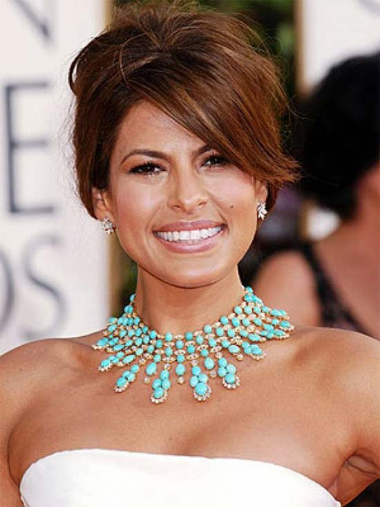 Eva Mendes Medium Red Hairstyles