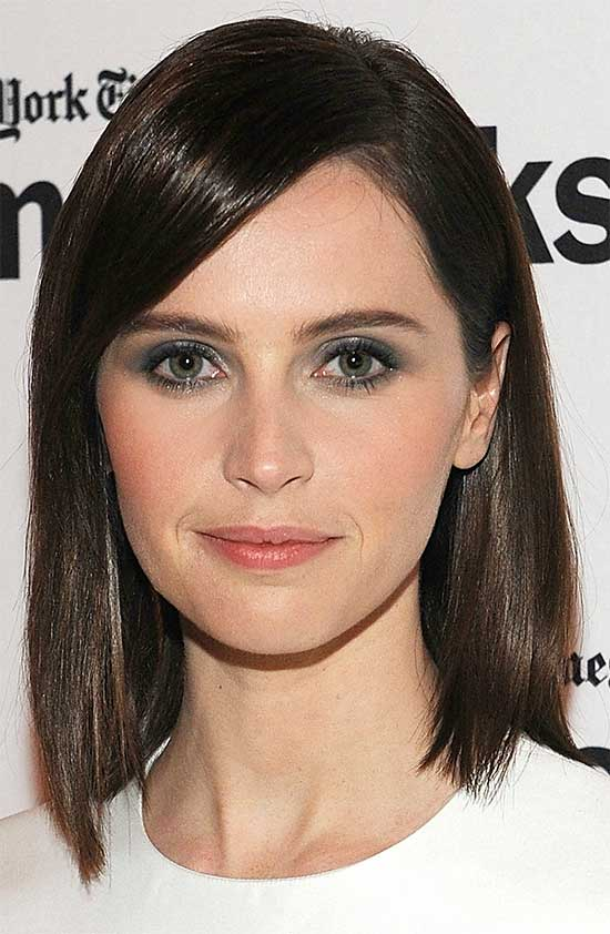 Felicity jones Long Bob Hairstyles