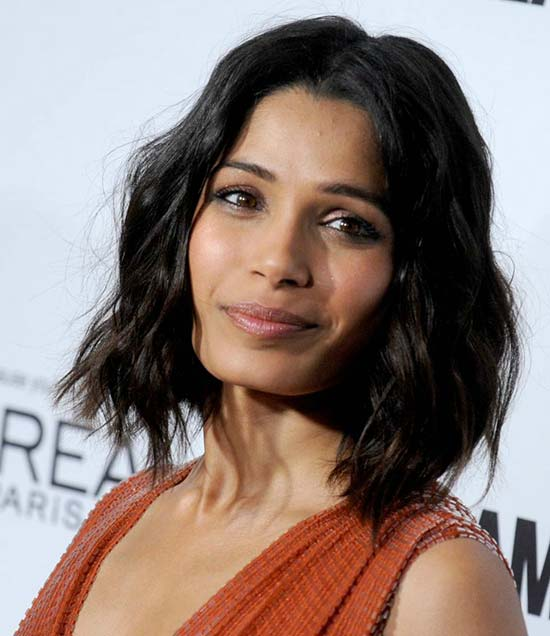 Freida Pinto Bob Haircuts for Fine Hair