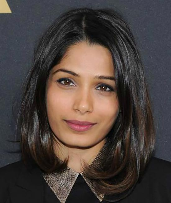 Freida Pinto Medium Bob Hairstyles