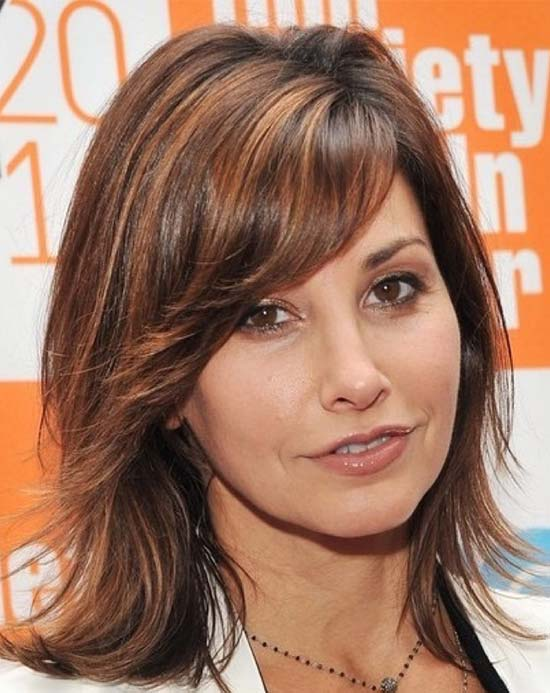 27 inspiring medium length haircuts for thick hair gina gershon medium length haircuts for thick hair winobraniefo Choice Image