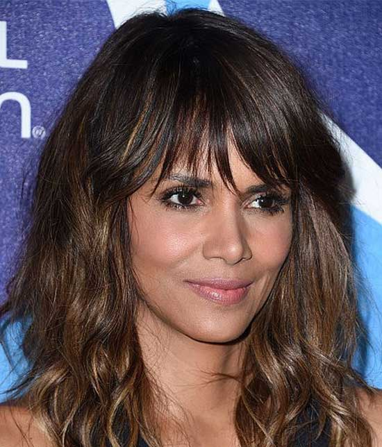 Halle Berry Medium Layered Haircuts