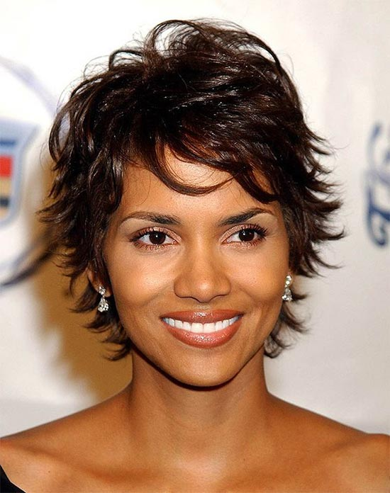 Halle Berry Medium Shag Haircuts