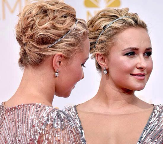 Hayden Panettiere Updos for Medium Length Hair