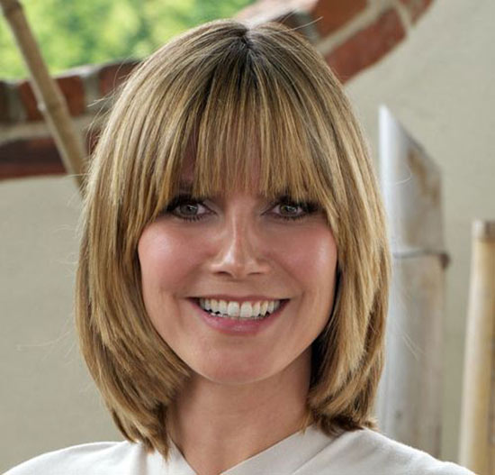 Heidi Klum Choppy Bob Hairstyles