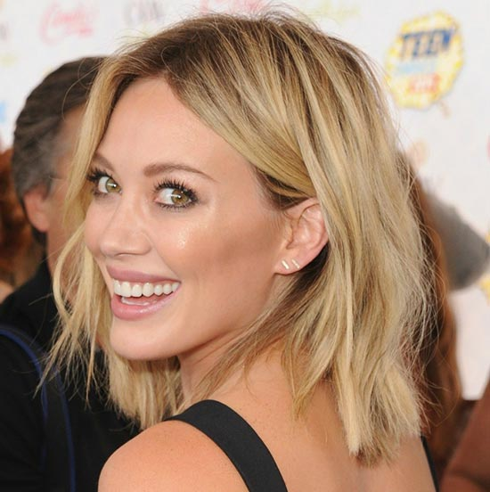 Hilary duff Layered Bob HairStyles