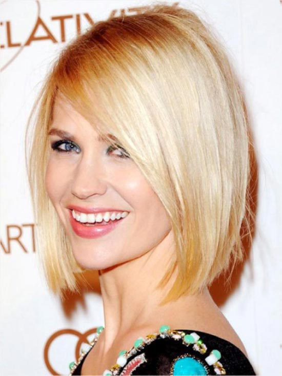January Jones Graduated Bob Haircuts