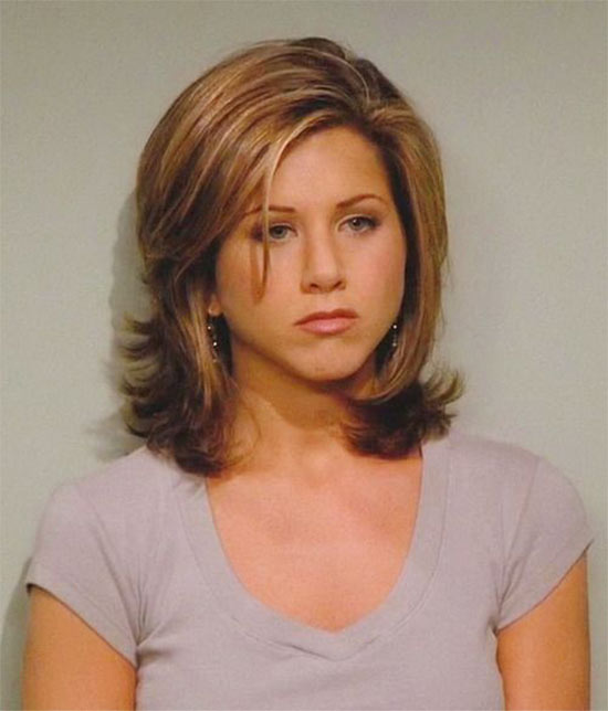 Jennifer Aniston Medium Hairstyles for Round Faces