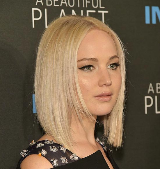 Jennifer Lawrence Graduated Bob Haircuts
