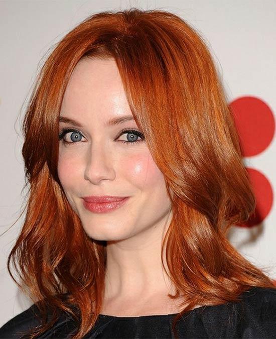 Jennifer Lawrence Medium Red Hairstyles