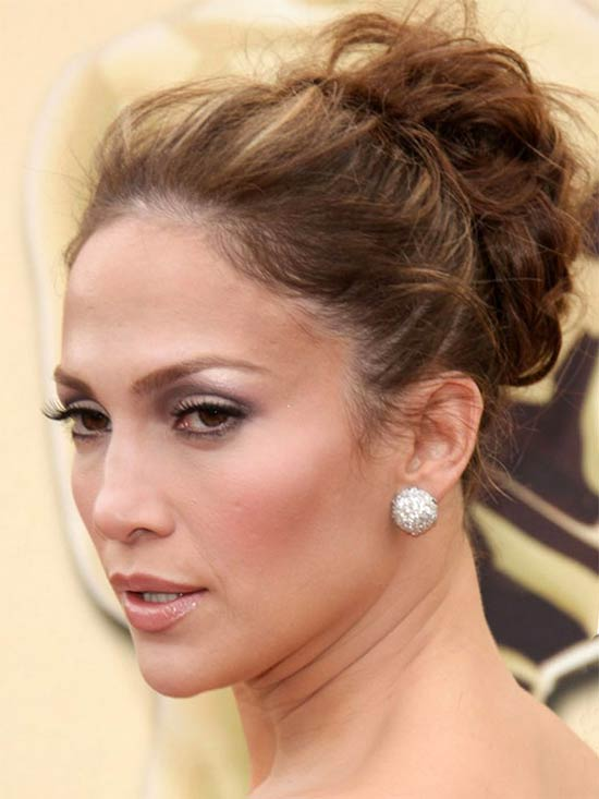 Jennifer Lopez Updos for Medium Length Hair
