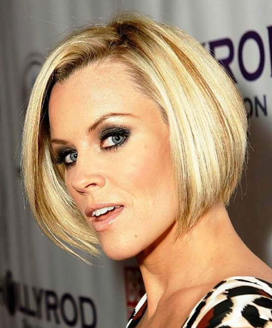 Jenny McCarthy Sassy Bob Haircuts for Round Faces