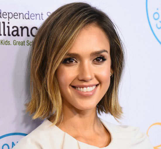 Jessica Alba Bob Haircuts for Fine Hair