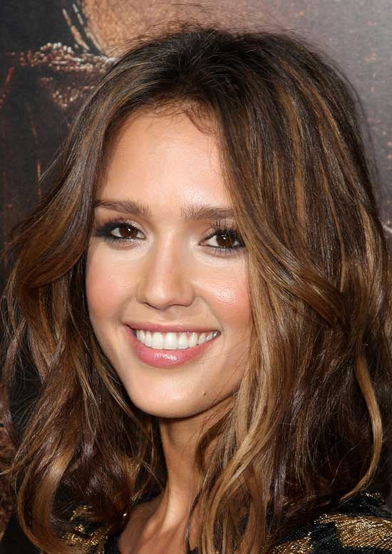 Jessica Alba Medium Length Haircuts for Thick Hair