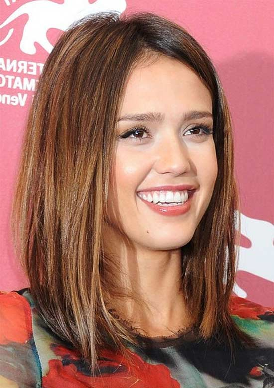 Jessica Alba Medium Straight Hairstyles