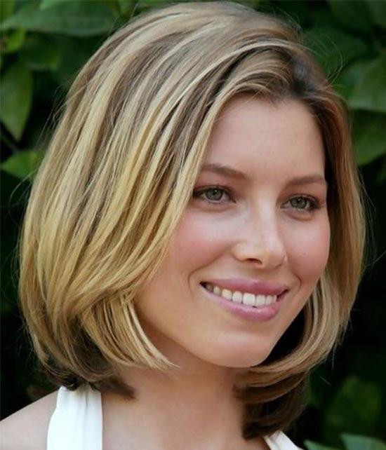 Jessica Biel Medium Bob Hairstyles