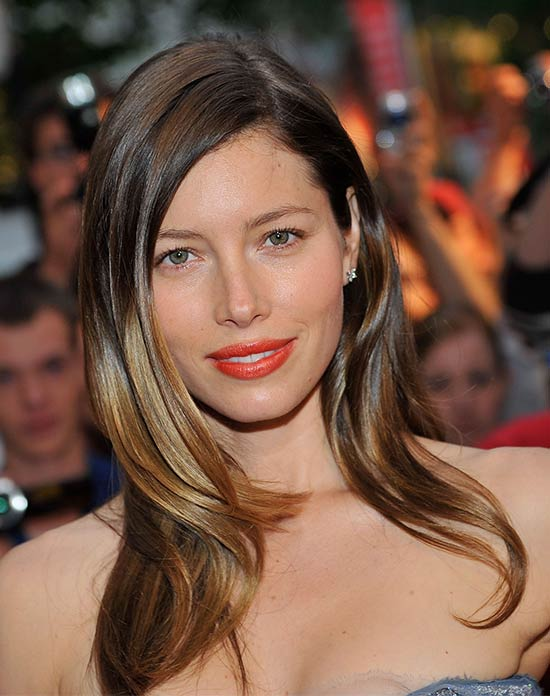 Jessica Biel Medium Length Hairstyles for Thin Hair
