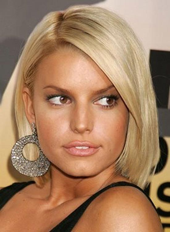 Jessica Simpson Blunt Bob Hairstyles