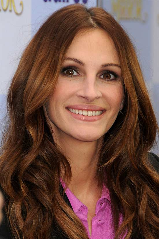 Julia-Roberts Medium Red Hairstyles