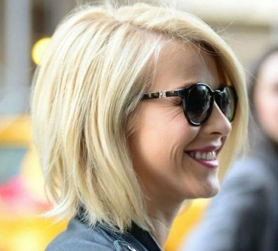 Julianne Hough Angled Bob Hairstyle