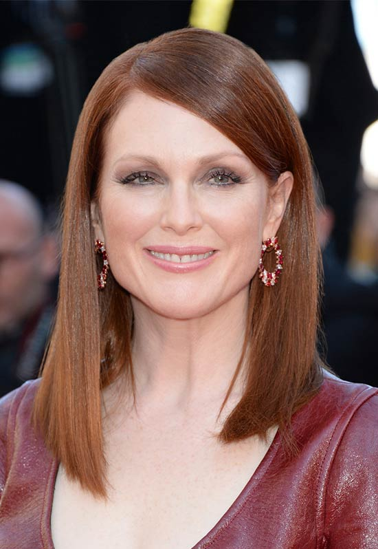 Julianne Moore Medium Straight Hairstyles
